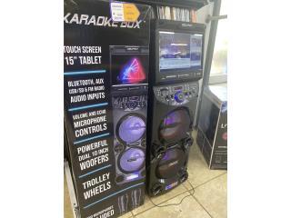 """Karaoke Box Tablet 15"""" , LA FAMILIA VEGA BAJA 1 Puerto Rico"""