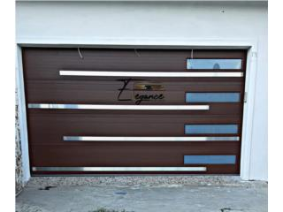 Puertas de Garaje ALUMINIO TONO MADERA, Elegance Garage Door's y Mas. Puerto Rico