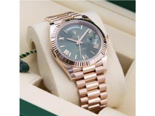 Rolex Day-Date Rose Gold Olive green dial, CHRONO - SHOP Puerto Rico