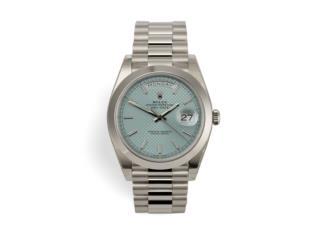 Rolex Day-Date President 40mm Platinum blue , CHRONO - SHOP Puerto Rico