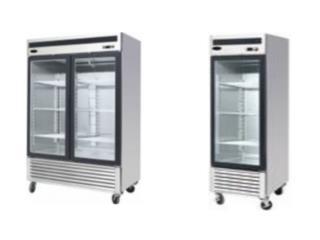 Freezer Stainless Steel Showcase/Congelador, Master Chef Puerto Rico