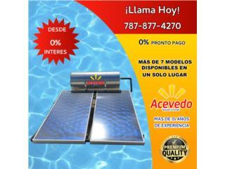 CALENTADOR SOLAR CON 2 PLACAS GRANDES , ACEVEDO SOLAR SYSTEM LLC  Puerto Rico