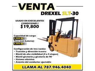 "DREXEL SLT-30/35AC,""FORKLIFT"" PERFECTO COND., Gondolas PR Puerto Rico"