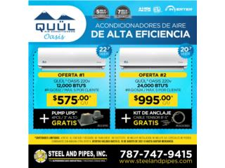 Aire inverter de 9,000 a 36,000 btu, Steel and Pipes Puerto Rico