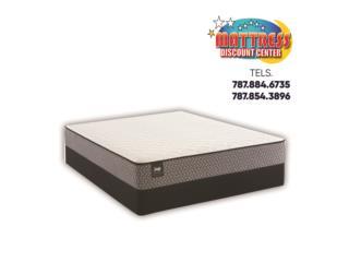 Set de mattress Sealy, mod Calhoun II Firm TT, Mattress Discount Center Puerto Rico