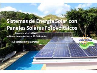 SISTEMA SOLAR FOTOVOLTAICO - $0.00 PRONTO, OFICINA_CENTRAL  VENTAS-SERVICIO (787) 635-5575 Puerto Rico