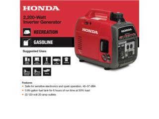 HONDA EU2200I INVERTER GARANTÍA LOCAL $1395, Tech Factory USA Puerto Rico
