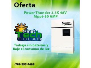 INVERTER 3K  MPPT 80-500V  Battery Les, FIRST TECH SOLAR Puerto Rico