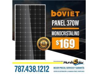 Panel Solar 370W boviet monocristalino, Mundo Solar Puerto Rico