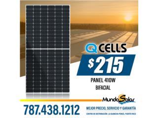 Panel Solar Bifacial de 410 watts QCELL, Mundo Solar Puerto Rico