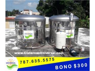 TANQUE S.STEEL 304 www.CISTERNASUNIVERSAL.com, OFICINA_CENTRAL  VENTAS-SERVICIO (787) 635-5575 Puerto Rico