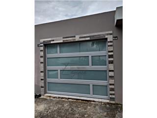PUERTAS DE GARAJE EN ALUMINIO GRIS, Elegance Garage Door's y Mas. Puerto Rico