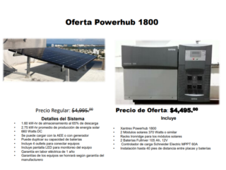 Oferta Powerhub 1800, Dynamic Solar Puerto Rico