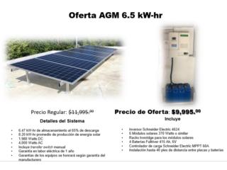OFERTA AGM 6.5 KW-hr, Dynamic Solar Puerto Rico
