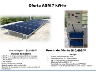 SISTEMA SOLAR   Oferta AGM 7KW-hr, Dynamic Solar Puerto Rico