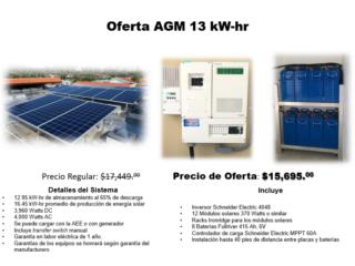 SISTEMA SOLAR  Oferta AGM 13 KW-hr, Dynamic Solar Puerto Rico