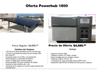 Sistema solar   OFERTA Powerhub 1800, Dynamic Solar Puerto Rico