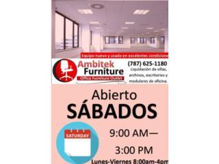 ABIERTO SÁBADO DE 9AM a 3PM, AMBITEK FURNITURE Puerto Rico
