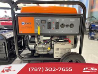 Generador Wanco 7500 Watts Industrial , Planet Honda GENERADORES Puerto Rico