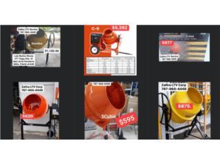 Mezcladora de cemento 1 mini 1/2 a 2 mini 1/2, Zafira LTV Service Corp. Puerto Rico