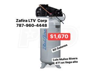 Compresor de 60Gl. $1,670, Zafira LTV Service Corp. Puerto Rico