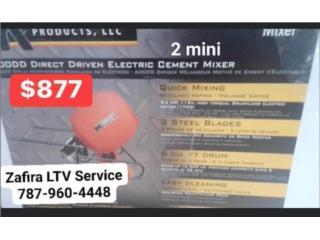 mezcladora de cemento 2 mini. $877   Vega Alt, Zafira LTV Service Corp. Puerto Rico