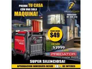 Predator 9500 para entrega inmediata ., Energy Powers Solutions Puerto Rico