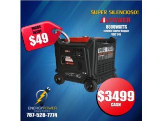 La Súper Silenciosa Inverter iPower 8000, iPOWER GENERATOR Puerto Rico
