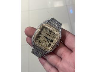 Cartier Santos XL Diamonds , CHRONO - SHOP Puerto Rico