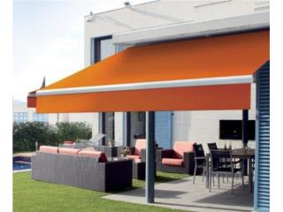Toldo Retractable 20' ancho; Proyección 5', MG Inter / Space Designs Puerto Rico