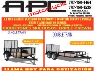 CARRETONES MULTIUSO VENTA Y REPARACION , APC Racing Scooter & Motorcycle   Puerto Rico
