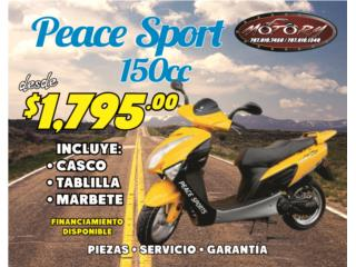 Peace Sport 150cc, The Scooter Part Shop & Motorcycle Puerto Rico