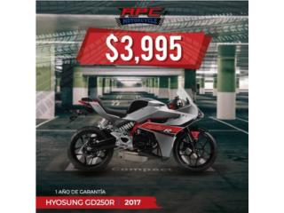 HYOSUNG  GD250R EX1VR 2017, APC Racing Scooter & Motorcycle   Puerto Rico