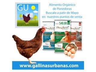 COMIDA DE PONEDORAS ORGANICA NUTRENA, GALLINAS URBANAS