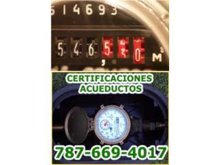 Certificaciones AAA,Plomería  787-669-4017