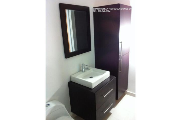 Gabinetes De Baño Pr:Gabinetes de Baños en madera y PVC Puerto Rico, Ebanistería y
