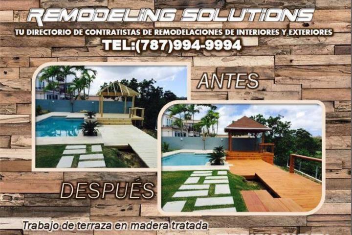 Construccion de terrazas para exteriores puerto rico for Planos terrazas exteriores