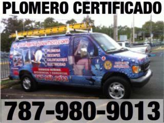 San Juan Puerto Rico Sistemas Seguridad - Camaras, MAESTRO PLOMERO 787-980-9013 CERTIFICACIONES AAA