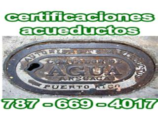 Certificación  AAA, Maestro Plomero, Acueducto PR Real Estate Puerto Rico
