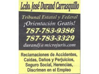 Abogado Bufete Lcdo. Jos�  Durand Carrasquillo Real Estate Puerto Rico