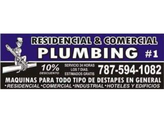 plomeria y destapes 24/7Real Estate Puerto Rico Bienes Raices