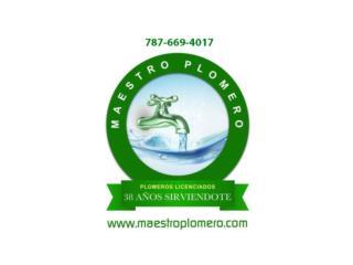 Certificaciones Acueductos, Maestro Plomero Real Estate Puerto Rico