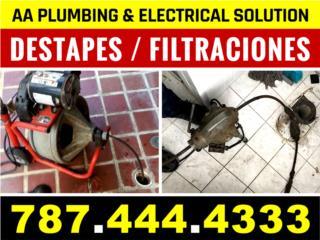 San Juan-Hato Rey Puerto Rico Apartamento, Destape / Deteccion / Filtracion 787-444-4333