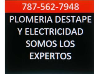 PLOMERO DESTAPE Y ELECTRICISTA 24-7