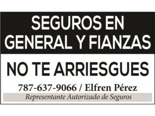 SEGUROS EN GENERAL Y FIANZAS