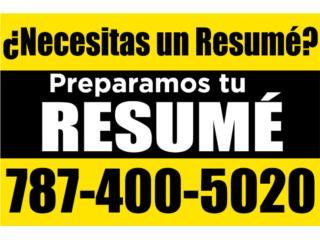 Resumés en Inglés o Español Clasificados Online  Puerto Rico