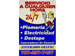 24/7 Plomeria/Electricidad/Destape 7872977437