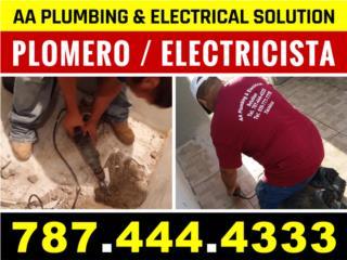 Plomero / Electricista / Handyman  787-444-4333
