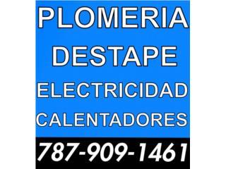 Plomero destape Electricista Guaynabo 7872158222 Clasificados Online  Puerto Rico