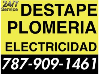 ELECTRICISTA Y PLOMERO 24/7 787 909-1461
